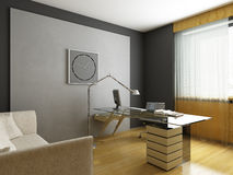 Modern interior design stock illustration