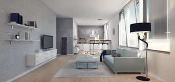 Modern interior design. Of apartment Stock Images