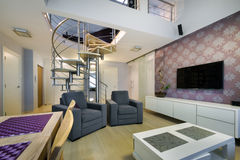 Modern interior design apartment Stock Photo