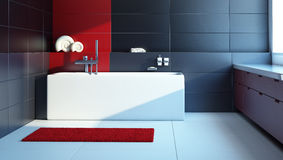Modern interior design of a bathroom Royalty Free Stock Photography