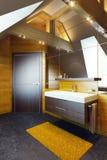 Modern interior design of a bathroom Royalty Free Stock Photos