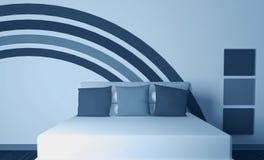 Modern interior design of bedroom Stock Photos