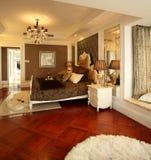 Modern interior design - Bedroom royalty free stock photo