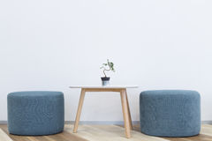 Modern interior design. Chair and table Stock Photography