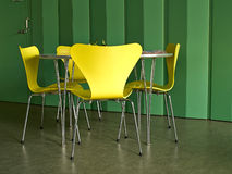 Modern interior design chairs and table Royalty Free Stock Image
