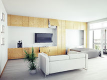 Modern  interior. Design (computer generated image, 3D Stock Photo