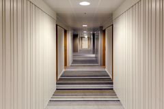 Modern interior design of the corridor Royalty Free Stock Images