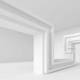 Modern Interior Design. 3d White Modern Interior Design stock illustration