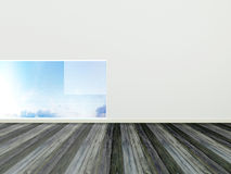 Modern interior design, empty room Royalty Free Stock Photos