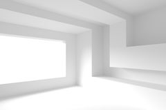 Modern Interior Design. Empty Room with Window. Frame. Minimal Abstract Background royalty free illustration