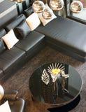 Modern interior design - Hold pillow on sofa Royalty Free Stock Photos