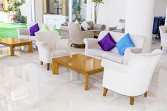 Modern interior design of a hotel lobby Stock Photography