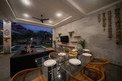 Free Modern Interior Design In Livingroom Of Pool Villas With High. Luxury Interior Design In Living Room Of Pool Villas Royalty Free Stock Image - 225902516