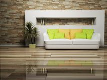 Modern interior design of living room Stock Photo