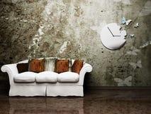 Modern  interior design of living room Stock Photography