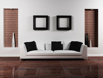 Modern interior design of living-room royalty free illustration