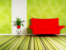 Modern interior design of living room royalty free illustration