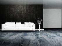 Modern interior design of living room vector illustration
