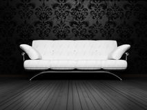 Modern  interior design of living room Royalty Free Stock Images