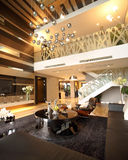 Modern interior design - Living room Royalty Free Stock Photos