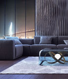 Modern interior design of living room Royalty Free Stock Photos