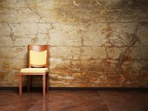 Modern  interior design with a nice chair Royalty Free Stock Image