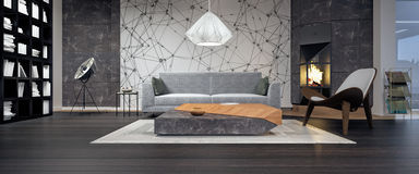 Free Modern Interior Design Of Living Room Stock Photos - 72116403