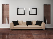 Free Modern Interior Design Of Living-room With Royalty Free Stock Photo - 19314165