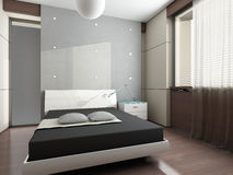 Modern interior design (privat apartment 3d render Stock Images