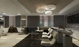 Modern interior design (privat apartment 3d render Stock Photography