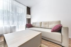 Modern Interior Design Series: Living Corner Stock Image
