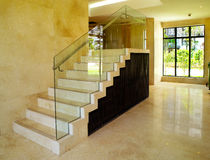 Modern interior design - Staircase Royalty Free Stock Image