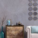 Modern interior with dresser and chair. Wall mock up. 3d illustr. Ation royalty free illustration