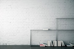 Modern interior with empty wall Stock Image