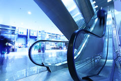 Modern interior with escalator Stock Photography