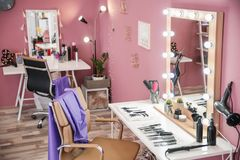 Modern interior of salon. Modern interior of hairdressing salon Stock Photo