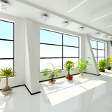 Modern interior of a hall Royalty Free Stock Photo