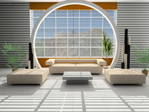 Modern interior of a hall Royalty Free Stock Image