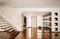 Modern interior of hall 3d render Royalty Free Stock Image