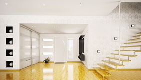 Modern interior of hall 3d render Royalty Free Stock Images
