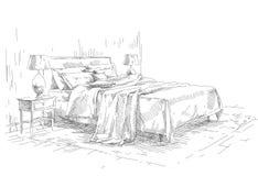 Modern interior hand drawing Stock Image