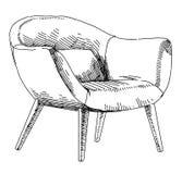 Modern interior hand drawing vector. Contemporary modern interior hand drawing vector illustration vector illustration