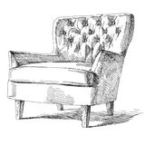 Modern interior hand drawing vector. Stock Photography