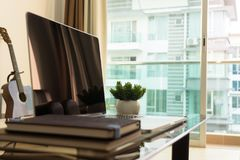 Home Work Space Interior. Modern interior of home work space Stock Photos