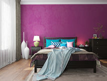 Modern interior in hotel bedroom furniture Royalty Free Stock Photo