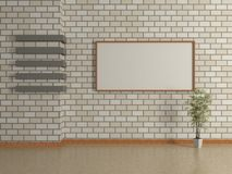 Modern interior of the house with a picture in a frame Royalty Free Stock Photo