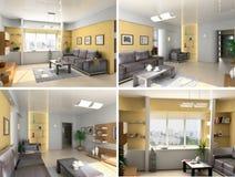 Modern interior image set vector illustration