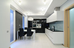 Modern interior.Kitchen Royalty Free Stock Photo