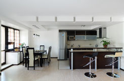 Modern interior.Kitchen Royalty Free Stock Images