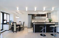 Modern interior.Kitchen royalty free stock photography